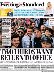 London Evening Standard front page for 21 April 2021