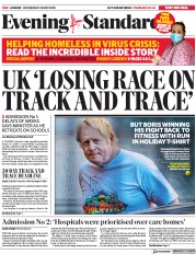 London Evening Standard front page for 21 May 2020