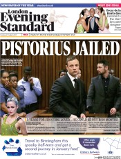 London Evening Standard (UK) Newspaper Front Page for 22 October 2014