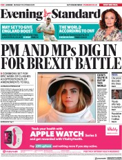 London Evening Standard (UK) Newspaper Front Page for 22 October 2019