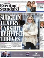 London Evening Standard (UK) Newspaper Front Page for 22 December 2014