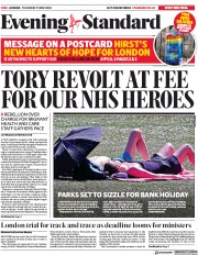 London Evening Standard front page for 22 May 2020