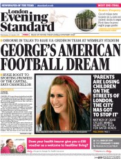 London Evening Standard (UK) Newspaper Front Page for 23 October 2014