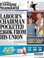 London Evening Standard (UK) Newspaper Front Page for 23 October 2017