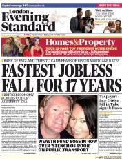 London Evening Standard (UK) Front Page for 19 September