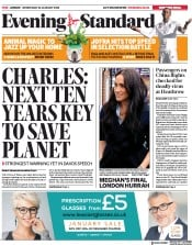 London Evening Standard () Newspaper Front Page for 23 January 2020