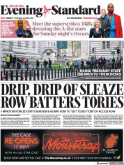 London Evening Standard front page for 23 April 2021