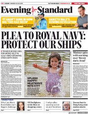 London Evening Standard (UK) Newspaper Front Page for 23 July 2019