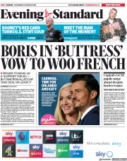 London Evening Standard (UK) Newspaper Front Page for 23 August 2019