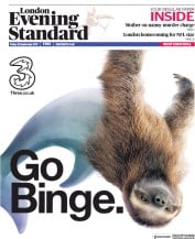 London Evening Standard (UK) Newspaper Front Page for 23 September 2017