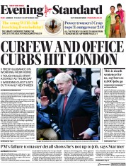 London Evening Standard front page for 23 September 2020