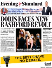 London Evening Standard front page for 24 October 2020