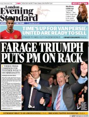 London Evening Standard (UK) Newspaper Front Page for 24 November 2014