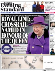 London Evening Standard (UK) Newspaper Front Page for 24 February 2016