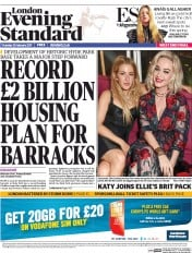 London Evening Standard (UK) Newspaper Front Page for 24 February 2017