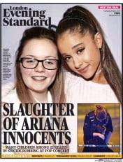 London Evening Standard (UK) Newspaper Front Page for 24 May 2017