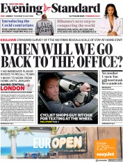London Evening Standard (UK) Newspaper Front Page for 24 July 2020