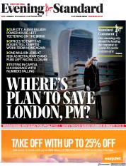 London Evening Standard front page for 24 September 2020