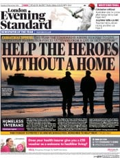 London Evening Standard (UK) Newspaper Front Page for 26 November 2014