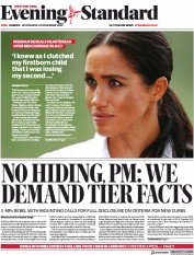 London Evening Standard front page for 26 November 2020