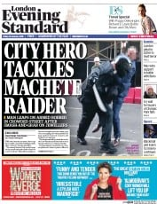 London Evening Standard (UK) Newspaper Front Page for 26 January 2015