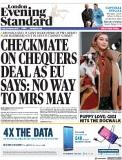 London Evening Standard (UK) Newspaper Front Page for 26 February 2018