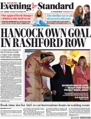London Evening Standard front page for 27 October 2020