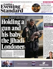London Evening Standard (UK) Newspaper Front Page for 27 November 2014