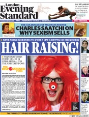 London Evening Standard (UK) Newspaper Front Page for 27 January 2015