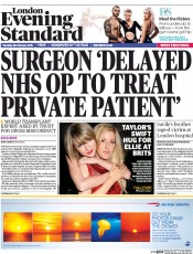 London Evening Standard (UK) Newspaper Front Page for 27 February 2015
