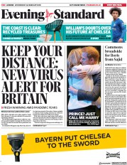 London Evening Standard (UK) Newspaper Front Page for 27 February 2020