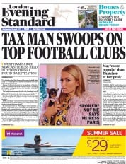 London Evening Standard (UK) Newspaper Front Page for 27 April 2017