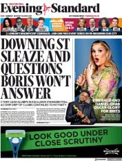 London Evening Standard front page for 27 April 2021