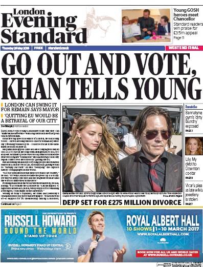 london evening standard newspaper online