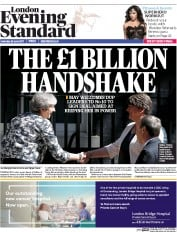 London Evening Standard (UK) Newspaper Front Page for 27 June 2017