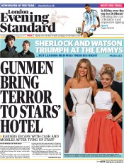 London Evening Standard (UK) Newspaper Front Page for 27 August 2014
