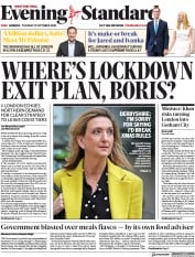 London Evening Standard front page for 28 October 2020