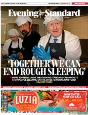 London Evening Standard () Newspaper Front Page for 28 December 2019