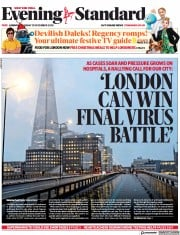 London Evening Standard front page for 28 December 2020