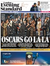 London Evening Standard (UK) Newspaper Front Page for 28 February 2017
