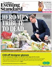 London Evening Standard (UK) Newspaper Front Page for 28 March 2017