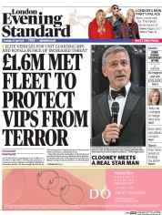London Evening Standard (UK) Newspaper Front Page for 28 April 2017