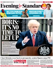 London Evening Standard (UK) Newspaper Front Page for 28 April 2020