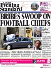 London Evening Standard (UK) Newspaper Front Page for 28 May 2015