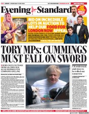 London Evening Standard (UK) Newspaper Front Page for 28 May 2020