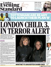 London Evening Standard (UK) Newspaper Front Page for 28 July 2015
