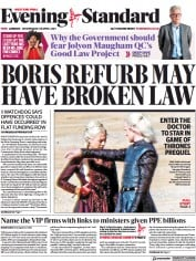 London Evening Standard front page for 29 April 2021