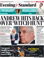 London Evening Standard () Newspaper Front Page for 29 August 2019