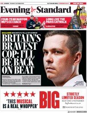 London Evening Standard (UK) Newspaper Front Page for 2 October 2019