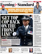 London Evening Standard () Newspaper Front Page for 2 December 2019